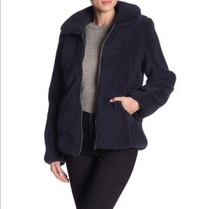 Sebby Faux Shearling Zip Teddy Jacket